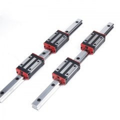 2pcs Square Linear rail 20mm at any length +4pc linear rail block HGH20CA/ HGW20CC for CNC parts & accessories