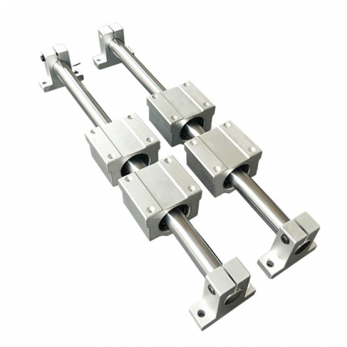linear rail shaft 8mm at any length 2 pcs +SCS8UU linear bearing blocks  4 pcs + linear rail support SK8 4 pcs